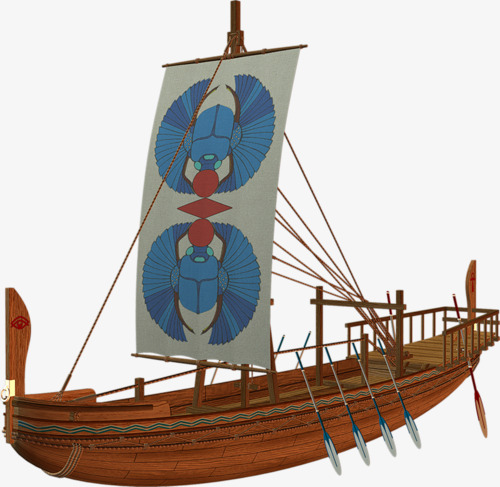 Wooden boat egypt sailboat. Boats clipart ancient egyptian
