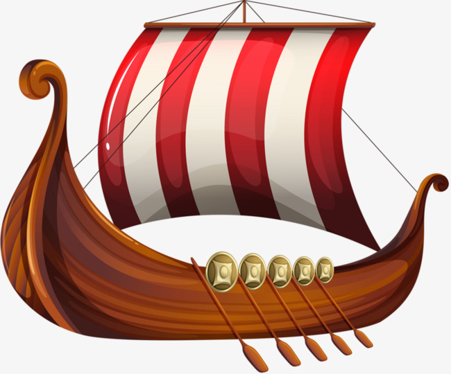 Dragon red white paddle. Boat clipart ancient egyptian