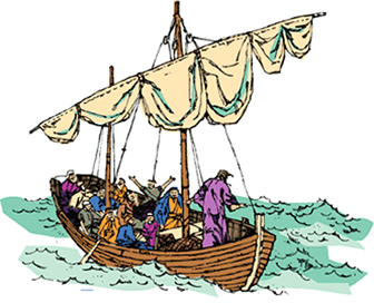 Boat clipart bible. Peace be still children