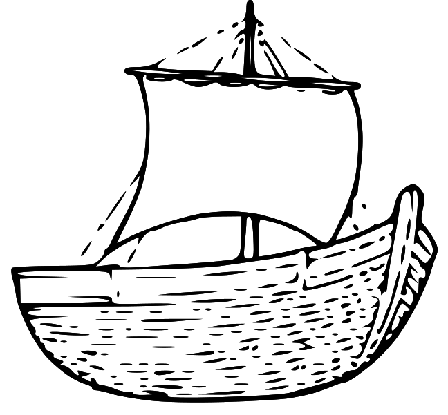 Boats clipart bible. Jesus boat