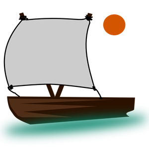 Pencil and in color. Boat clipart bible