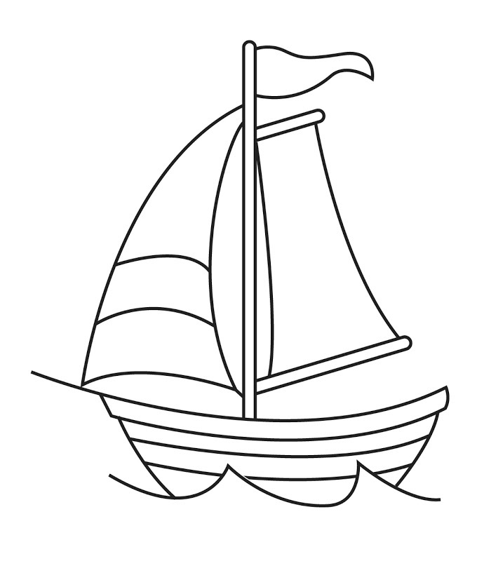 Boats clipart line art. Sailboat black and white