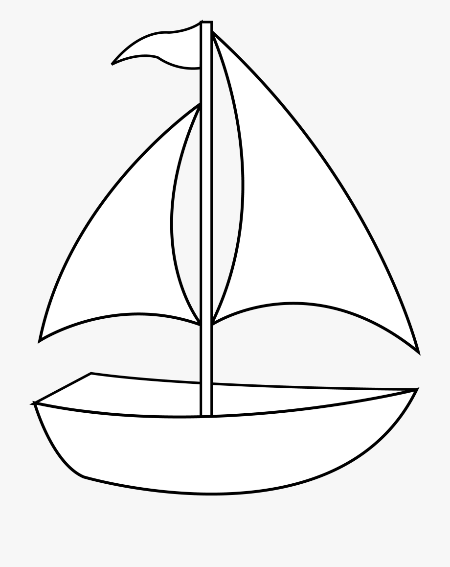 Sailing boat parade white. Boats clipart line art