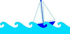 Free sailboat clip art. Waves clipart kid