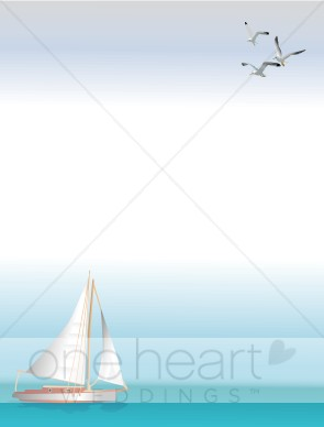 Boats clipart border. Yacht beach borders