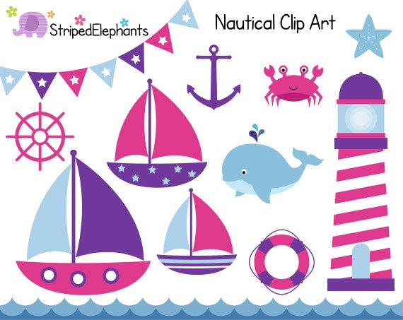 Nautical clip art sail. Boats clipart border