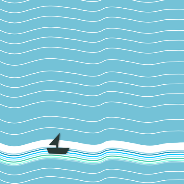 Boat clipart border. Free nautical wave scrapbooking
