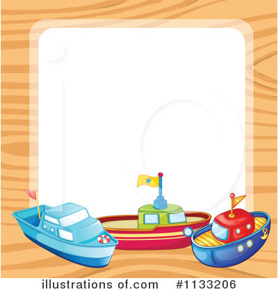 Illustration by graphics rf. Boats clipart border