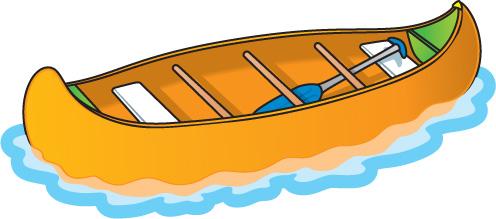Free . Boat clipart canoe