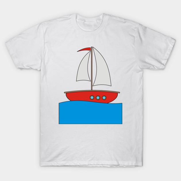 Boat clipart cartoon. Big t shirt