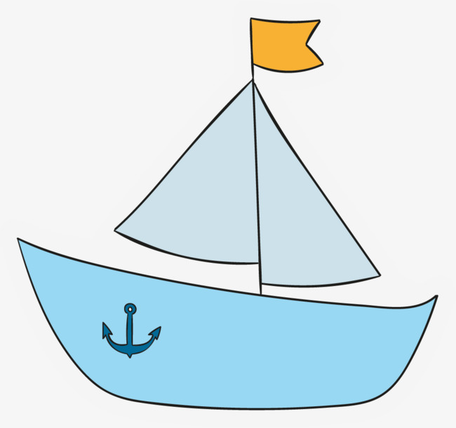 Boat clipart cartoon. Blue png image and