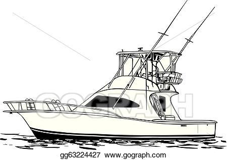 Eps illustration boat vector. Fishing clipart sport fishing