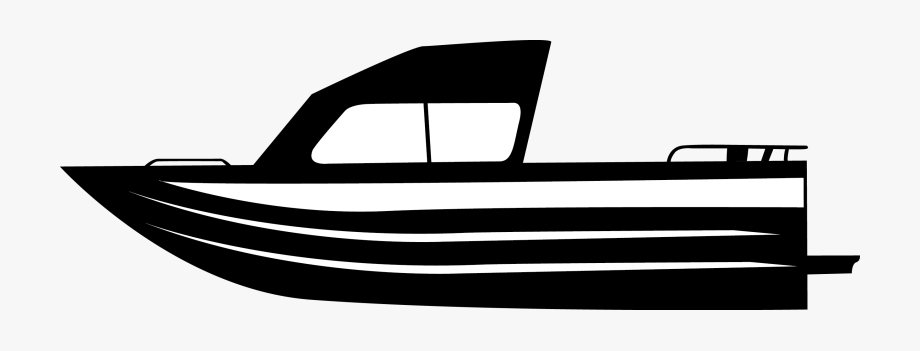Black and white fishing. Boat clipart charter boat