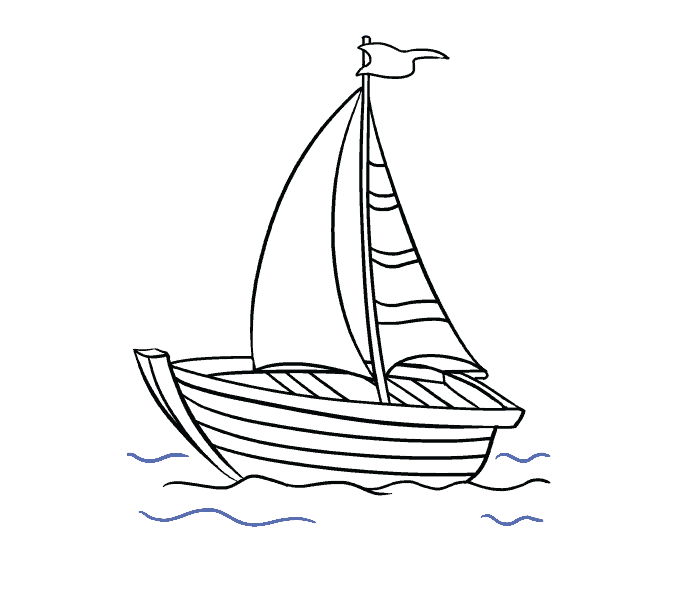 Boat clipart easy. How to draw a