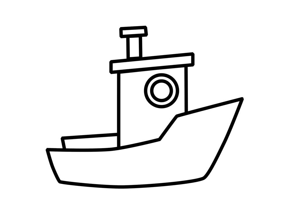 Template pencil and in. Boat clipart easy