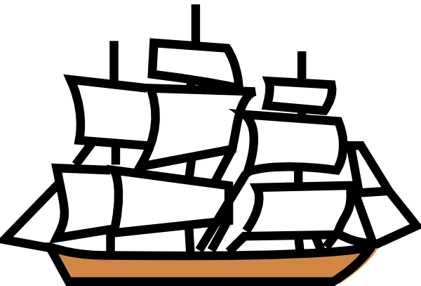Free simple ship drawing. Boat clipart easy