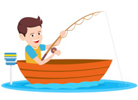 boating clipart boy in boat