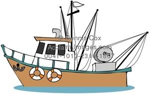 Illustration . Boat clipart fishing trawler