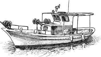 Greek stock vectors me. Boat clipart fishing trawler