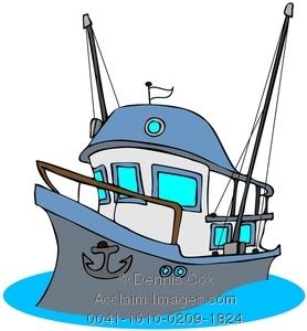 Boat clipart fishing trawler. Image