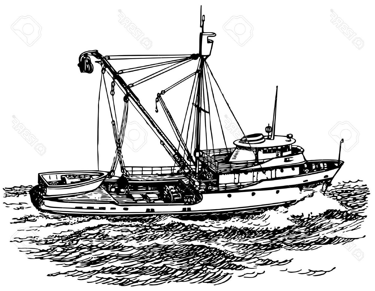 Boat clipart fishing trawler. Hd pictures vector art