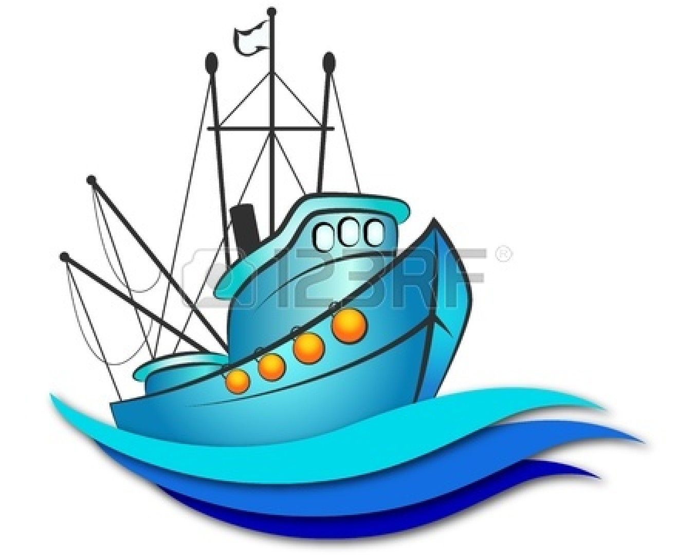 Boat clipart fishing vessel. Design for panda free