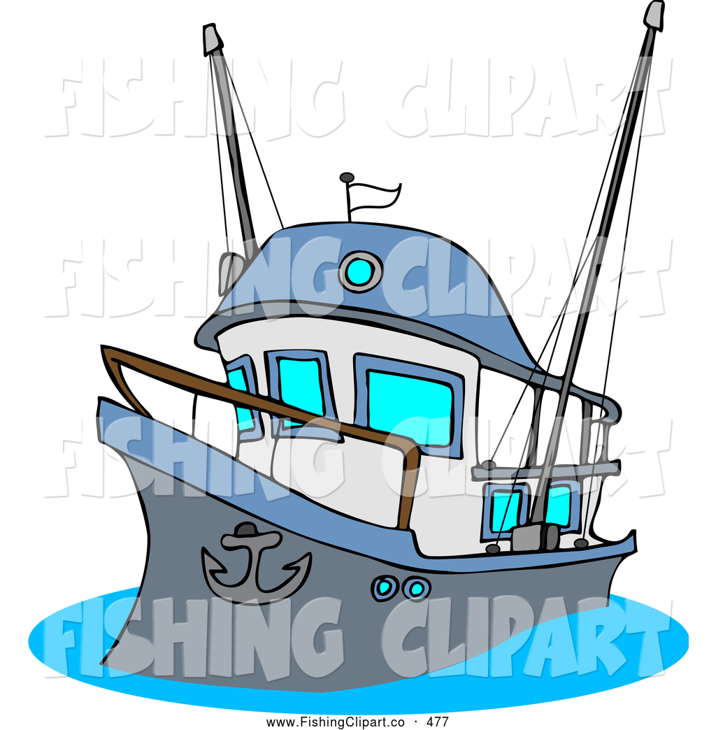 . Boat clipart fishing vessel