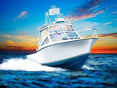 Carolina classic running at. Boat clipart fishing vessel