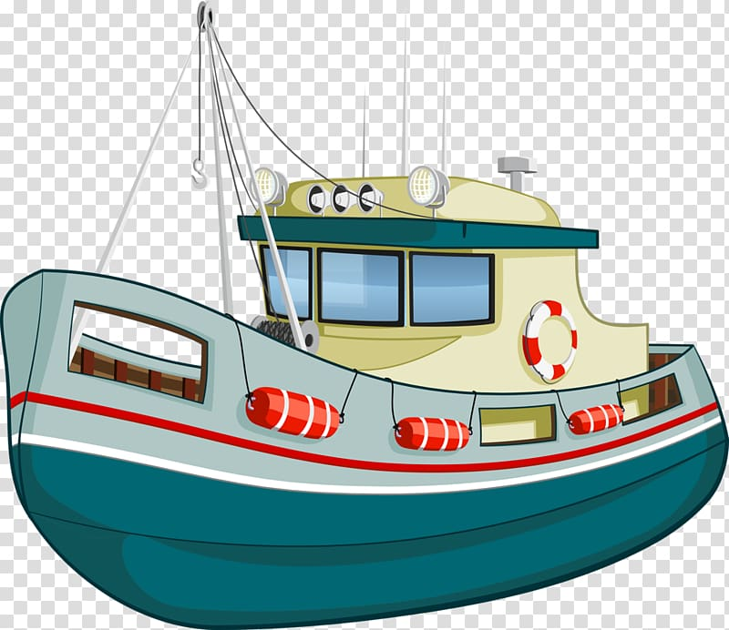 Fishing vessel boat fish. Boating clipart water transportation