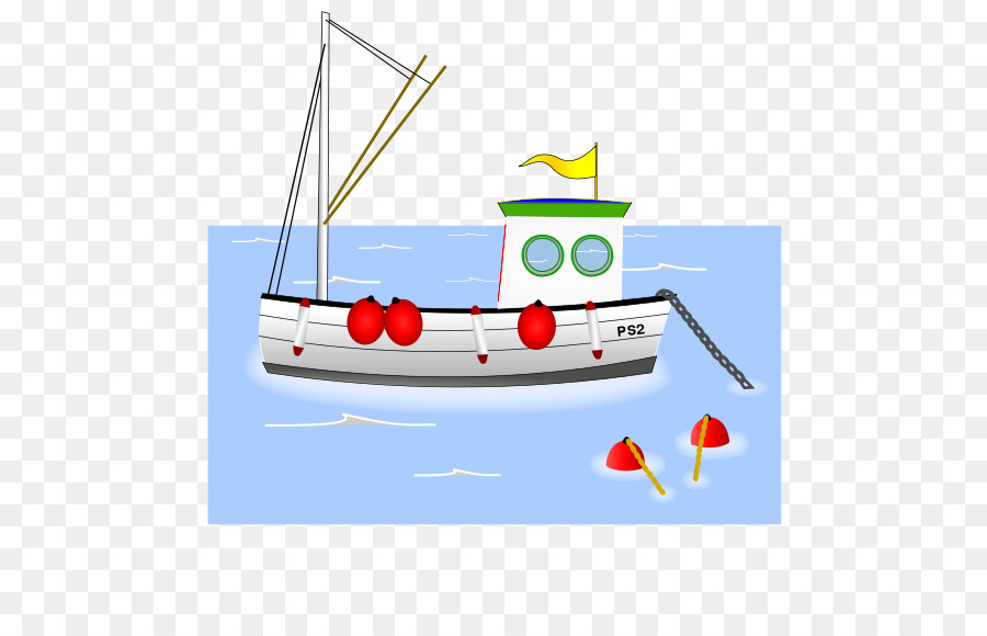 Cartoon sailboat . Boat clipart fishing vessel