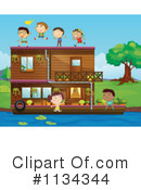 Boat clipart house boat. Illustration by graphics rf