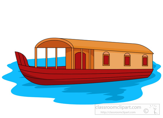 Boats clipart house boat. Fishing houseboat pencil and