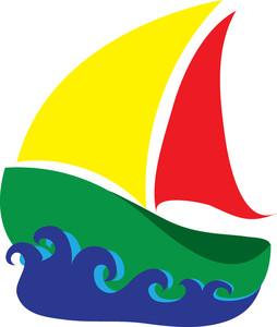 Free sailboat clip art. Boats clipart illustration