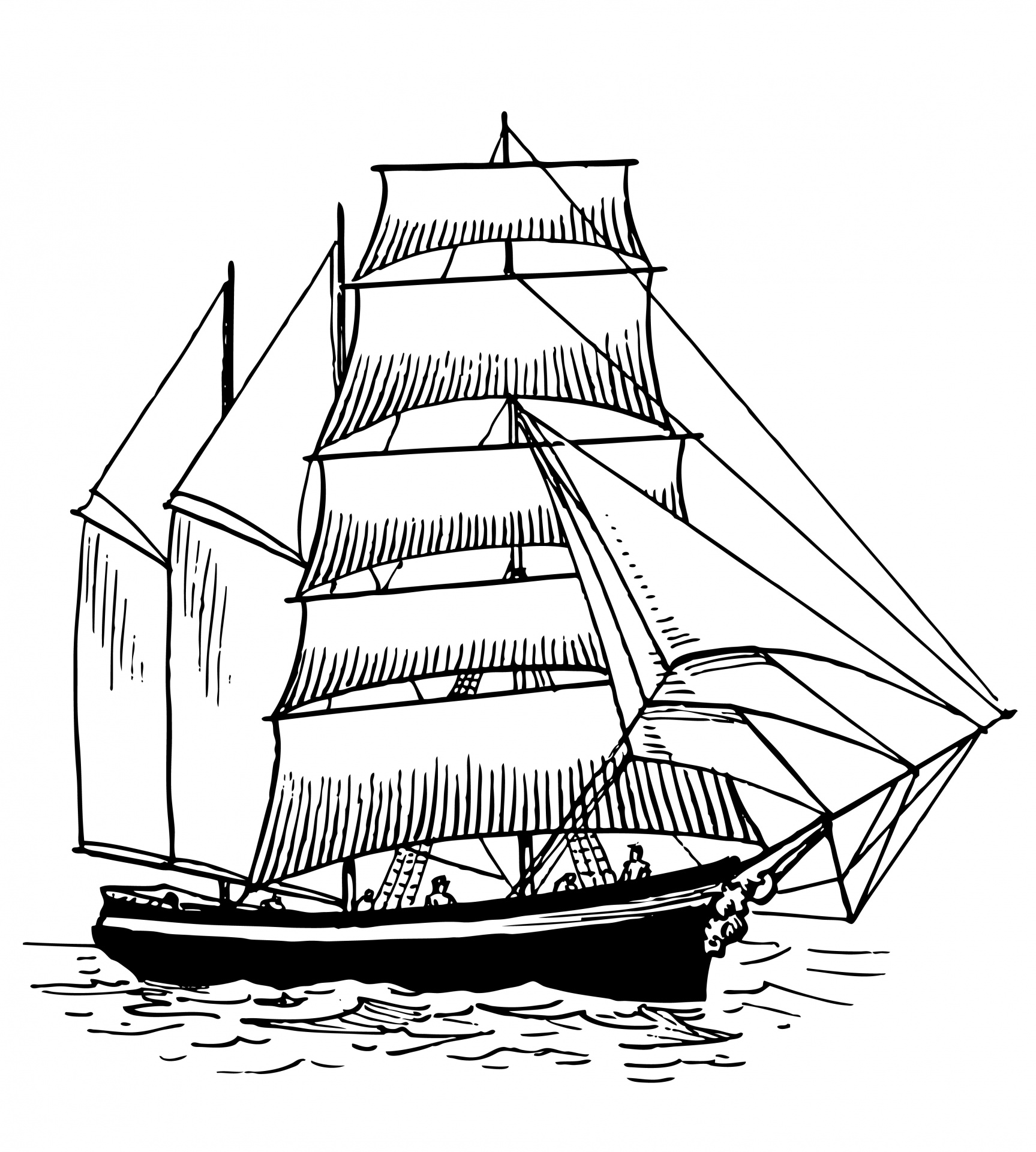 Ship vintage free stock. Boat clipart illustration
