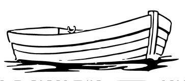 Row clip custom design. Boat clipart line art