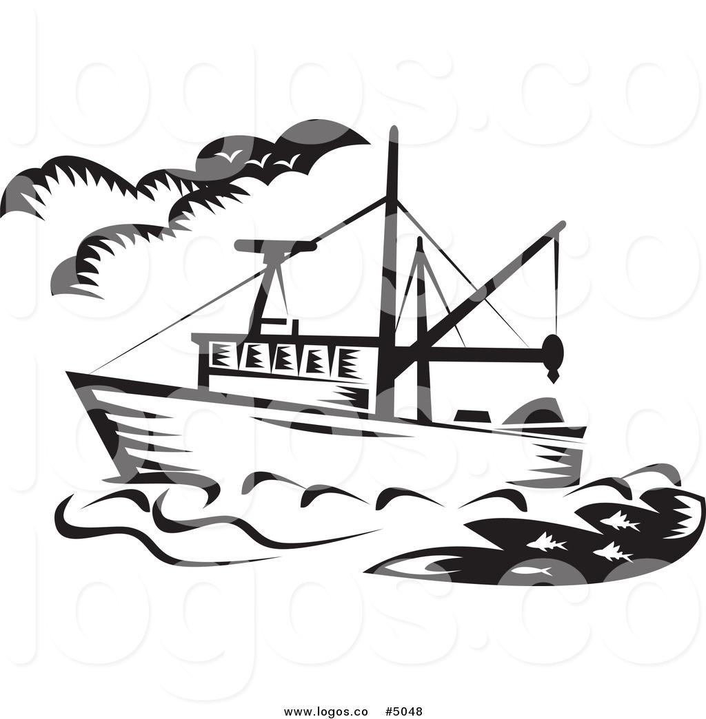 Boat clipart line art. Fishing drawing at getdrawings