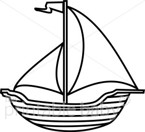 Boat beach baby. Boating clipart black and white