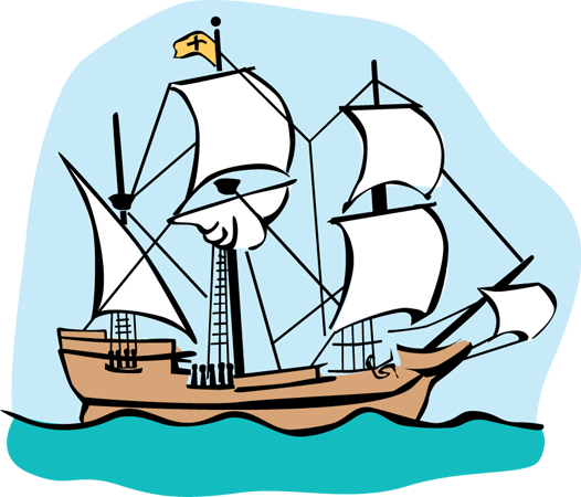 Free silhouttee cliparts download. Boat clipart mayflower