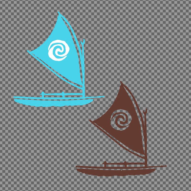 colors digital moanas. Boats clipart moana
