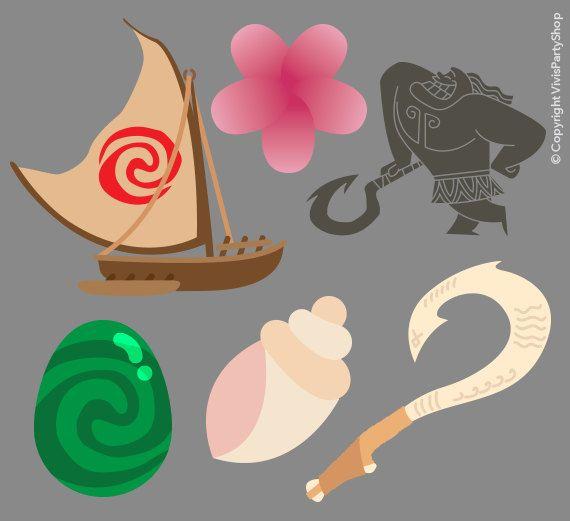 Disney princess instant face. Boats clipart moana
