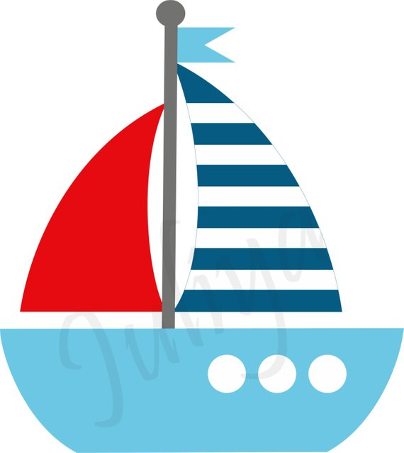 Boating clipart nautical. Kids sailor red white