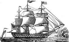 Vintage ship clip art. Boat clipart old fashioned
