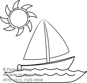 Of a stock photography. Boat clipart outline