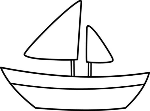 Coloring pages sailing . Boat clipart outline