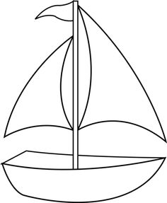 Boat clipart outline. Black and white free