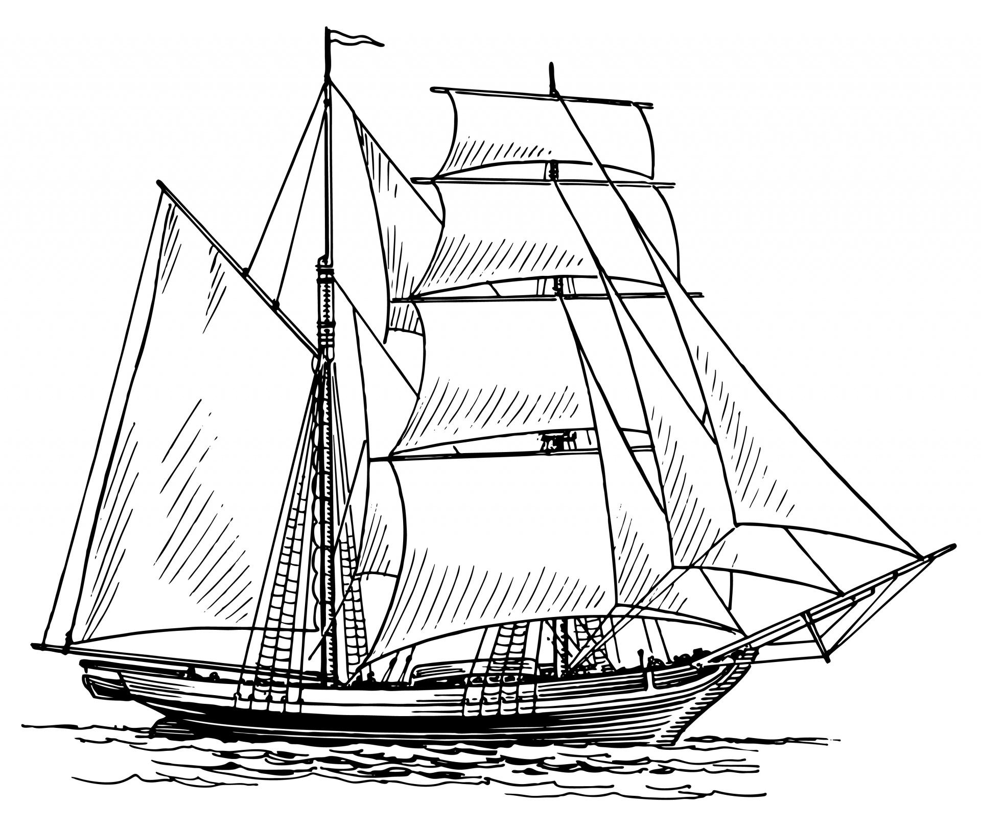 Boat clipart sailing boat. Ship illustration free stock