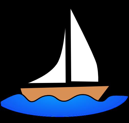 Sail boat . Boating clipart sailboat
