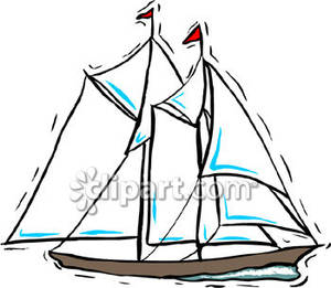 Boat clipart schooner. Image of a two
