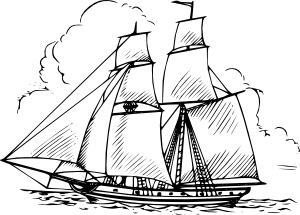 Boat clipart schooner. Clip art at clker