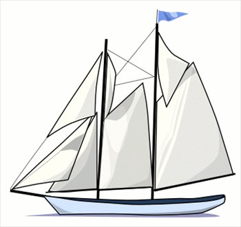 Free graphics images and. Boat clipart schooner